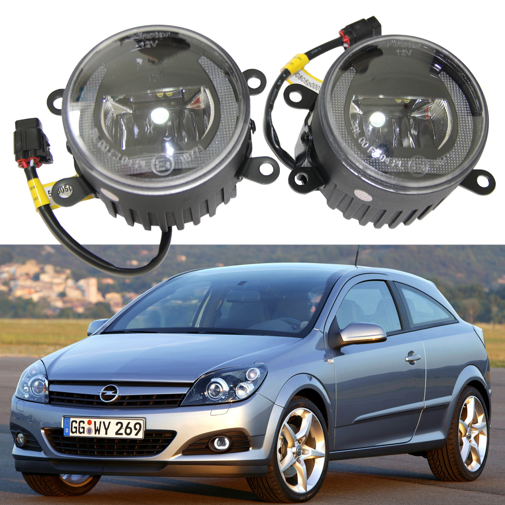 Super bright Daylight Guide Adjustable Height Bracket Led Fog Drl Light for Opel Astra H GTC 2004-2010 Zafira B Corsa D Meriva A for opel astra h gtc 2005 15 h11 wiring harness sockets wire connector switch 2 fog lights drl front bumper 5d lens led lamp