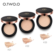 O.TWO.O Natural Face Powder Mineral Foundations Oil-control Brighten Concealer Whitening Make Up Pressed With Puff