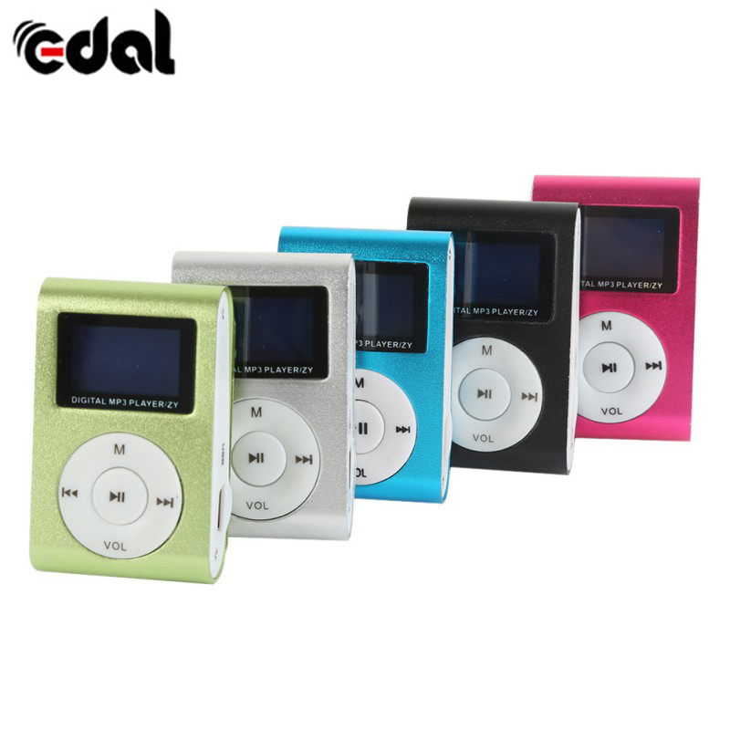 EDAL Stylish Mini Mp3 USB Clip with LCD Screen Support 32GB Micro SD TF New Design Sport Gym