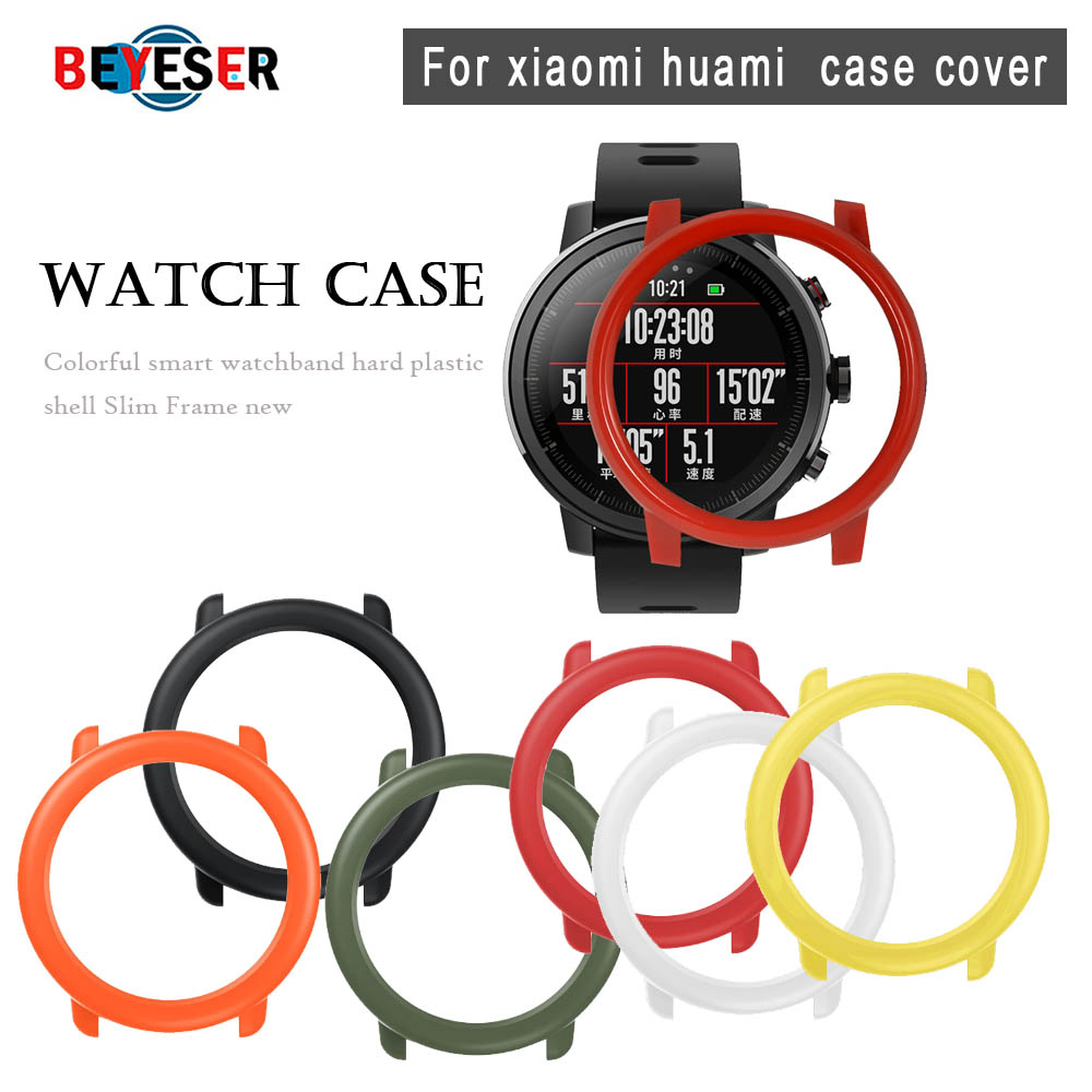Slim PC Case Cover Protective Frame Shell For Xiaomi Huami Amazfit Pace Watch Colorful Replacement Watch Protector Cases Cover