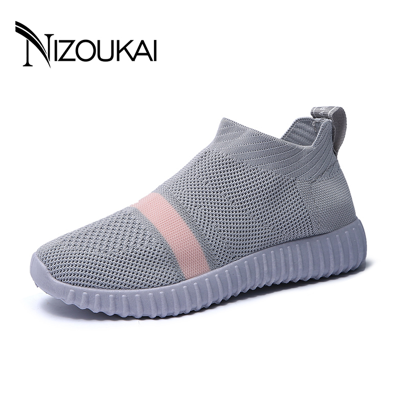 Fashion 2018 Casual Shoes Woman Comfortable Breathable Mesh Flats Female espadrilles ladies Sneakers Women shoes Chaussure Femme