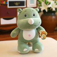 45 cm simulación de peluche rinoceronte elefante juguete de peluche muñeco de peluche Animal salvaje bebé niños estudiante regalo especial Triver