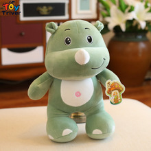 45cm Simulation Plush Rhino Hippo Elephant Toy Stuffed Doll Toys Wild Animal Baby Children Kids Student Special Gift Triver about 45cm simulation dogs and tigers plush toy stuffed animal dolls kids children birthday gift toys