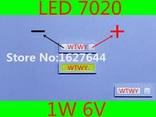 500 pièces EVERLIGHT LED 7020 LED rétro éclairage TV haute puissance 1 W 6 V LED rétro éclairage blanc froid pour LED LCD TV rétro éclairage Application