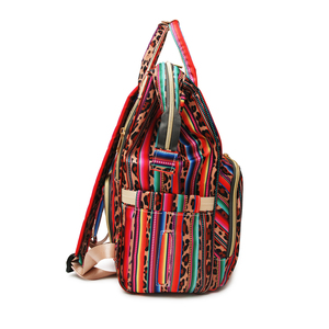 Image 3 - Рюкзак для мам с леопардовым принтом, дорожная сумка для подгузников с несколькими карманами, тканевая сумка для ухода за ребенком