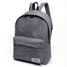 2018 Brand Canvas Men women Backpack College Students High Middle School Bags Fo