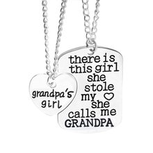 "Fashion mommy's girl love necklaces ""There is this girl she stole my heart she calls me mommy"" family series pendant necklace(China)"