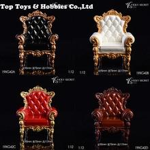 Couch Model Toys Collection VSTOYS 1/12 Royal Single Sofa Model 19XG42 European Retro Chair F 6'' FigureDoll