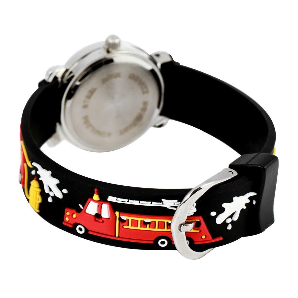 d1a7919e209c5 Étanche enfants montres enfants filles et garçon Silicone pompiers marque  Quartz montre bracelet mode décontracté Relogio montre dans Montres pour  enfants ...