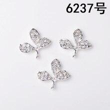 50 adet 23*24mm gümüş renk alaşım malzeme kristal yaprak Charm yaprağı kolye için kafa DIY düğün el yapımı takı yapımı