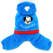Pet Small Dog Clothes for Boys Girls Winter My Rugarats Fleece Coat Hooded Jumpsuit
