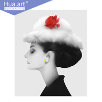 Hua Art DIY Diamond Painting 5d Cross Stitch Diamond Embroidery People Audrey Hepburn Goddess Full Diamond