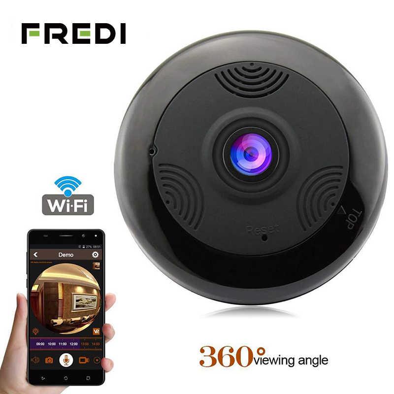 FREDI потолочный рыбий глаз 1080 P ip-камера 360 градусов панорамная беспроводная WiFi домашняя камера безопасности инфракрасная камера ночного видения CCTV