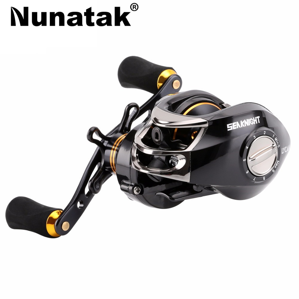 Magnetic brake system fish reel fishing bait cast 7.0: 1 brand fishing tackle wheel 12 + ...