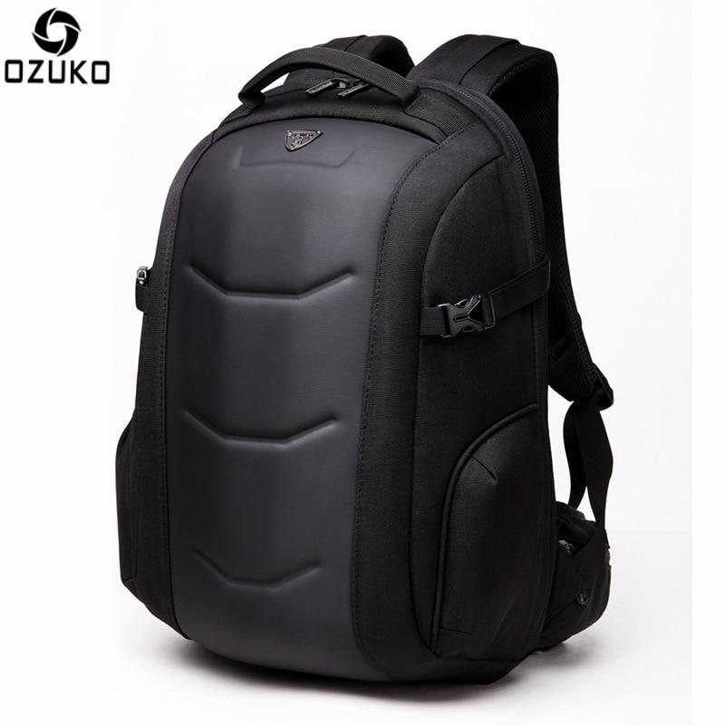 OZUKO sac à dos étanche mâle Mochila externe 15.6 pouces sac à dos pour ordinateur portable décontracté sac d'école Anti-voleur sac à dos coquille dure 2021