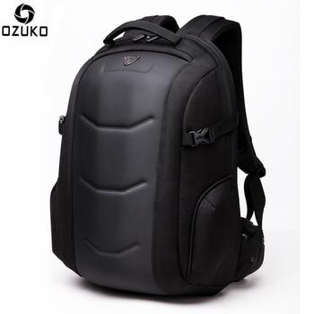 OZUKO Backpack Waterproof Male Mochila External 15.6 inch Laptop Casual school bag Anti-thief Hard Shell 2021