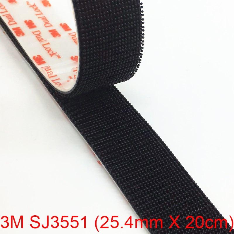 250 Stems 50mm x 20cm 3M SJ3550 Black Dual Lock Super Heavy Duty Adhesive
