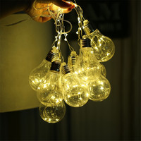 Classical Battery Filament Ball Festoon Holiday Copper String Lights USB Power Led Globe Bulb Fairy Christmas
