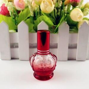 Image 4 - 1PC 12 Ml Vương Miện Nhiều Màu Trống Kính Lọ Nước Hoa Mẫu Nhỏ Di Động Parfume Lọ Mùi Hương Phun Bình