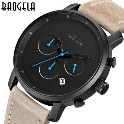 Top Luxury Mens Watches Brand BAOGELA Casual Men's Quartz Watch Waterproof Sport Military Watches Men Leather relogio masculino casual mens watches top brand luxury men s quartz watch waterproof sport military watches men leather relogio masculino benyar