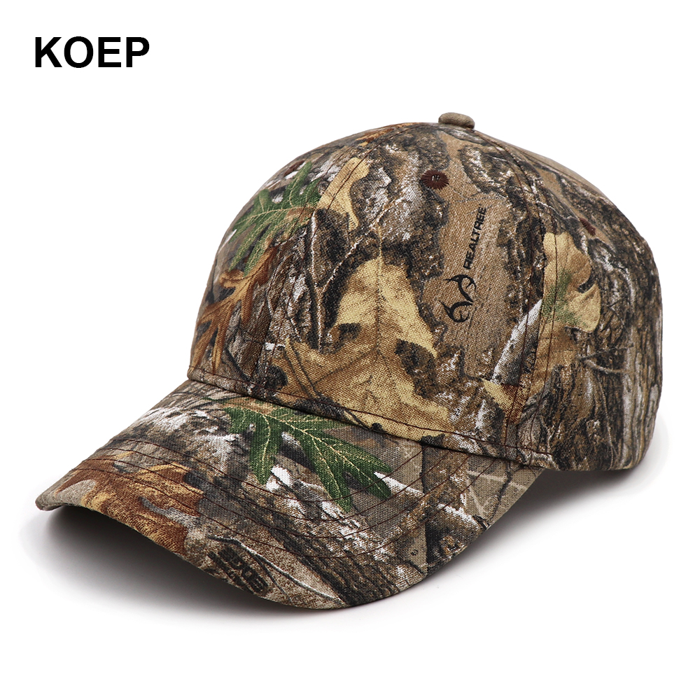KOEP 2019 New Arrival Camo   Baseball     Caps   Casquette Camouflage   Cap   Men Outdoor Fishing Hat Hunting Dad Hat CAMRTCAEDGE