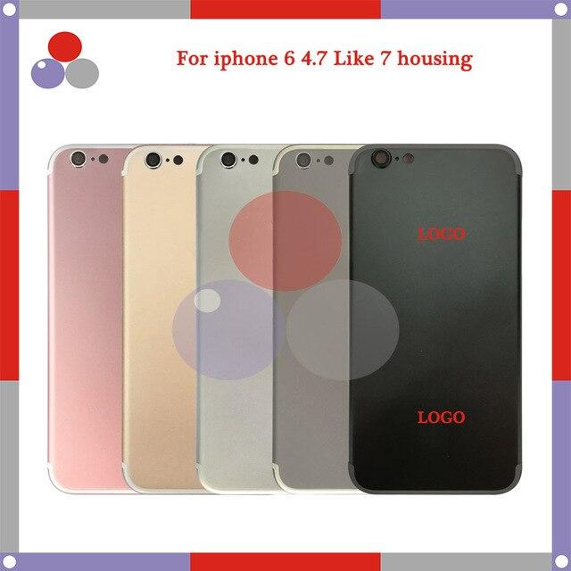 Для iphone 6 и iphone 6 Plus как iphone 7 и 7 плюс Стиль Шасси Ближний Рамка Назад Корпус Крышка Батареи Дверь