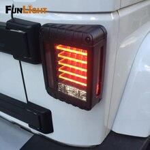 지프 랭글러를위한 LED 테일 라이트 JK 브레이크/리버스/턴 시그널 램프 후방 주차 스톱 라이트 주간 러닝 DRL 라이트
