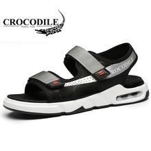 3fe7427c6432 Crocodile Men s Sneaker Outdoor Sandals for Men Air Cushioning Sneakers  Foothold Male Flat Heel Running Sport