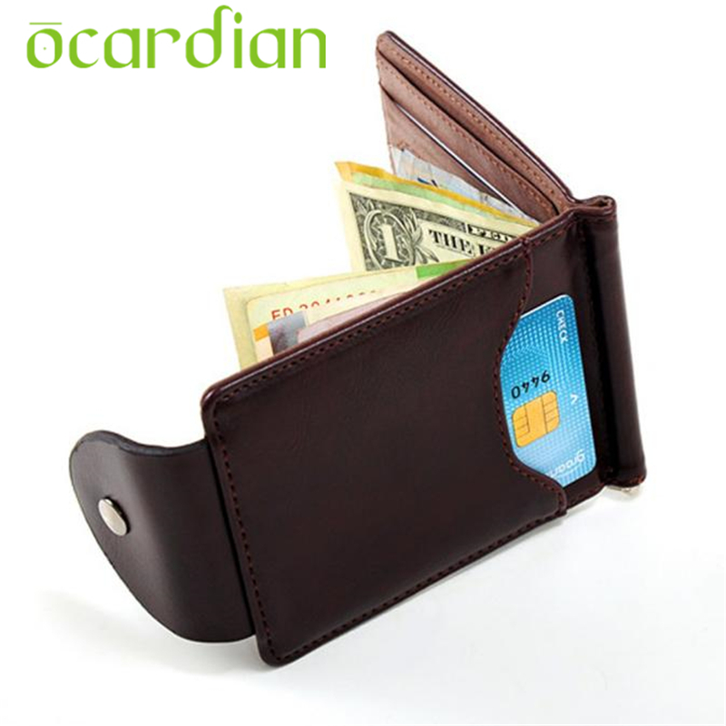 Men Women Wallet Top Quality Card ID Ultra-thin  PU Leather Money Clip Slim Credit Holder Purse Gift Billetera Carteira 17July10