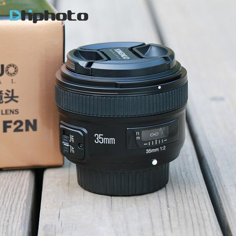 YONGNUO YN 35mm F2 objectif de caméra pour Nikon Canon EOS YN35MM objectifs AF MF objectif grand Angle pour 600D 60D 5DII 5D 500D 400D 650D 6 - 6