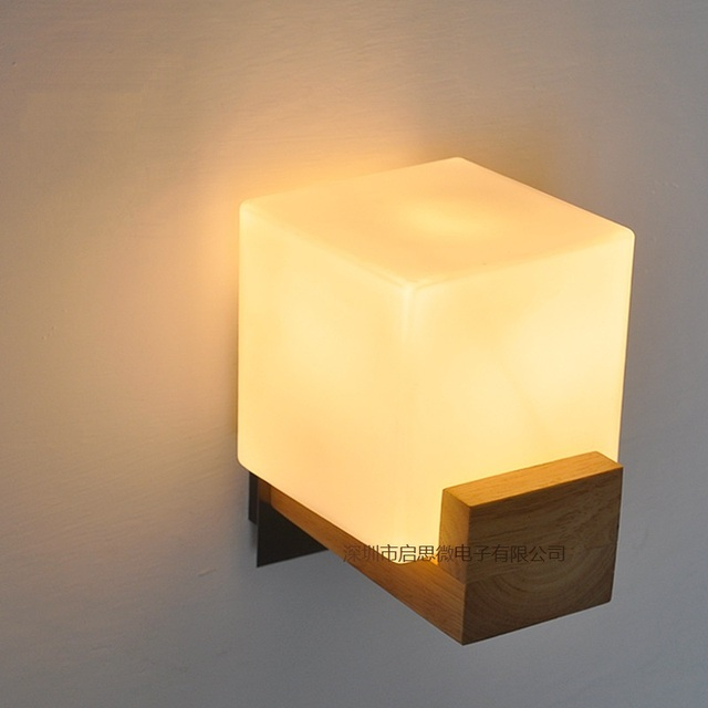 New Style Modern Wall Lamps Sconces Living Room Wooden Restaurant ...