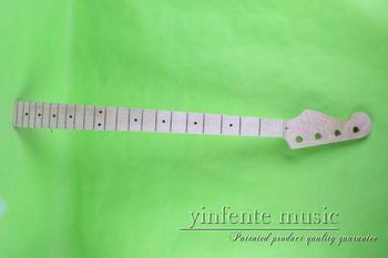 one 22 fret Unfinished electric bass   guitar neck head fingerboar  4 string maple made  maple fingerboard