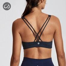 цены CRZ YOGA Women's Light Support Cross Back Wirefree Removable Cups Yoga Sport Bra