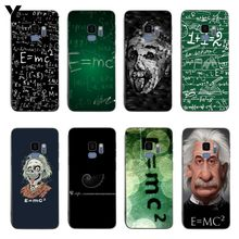 Yinuoda e mc2 with E=mc Math Albert Einstein Soft silicone coque Cover case For samsung S8 S9 S8plus S7 Edge Note 8 Note 9(China)