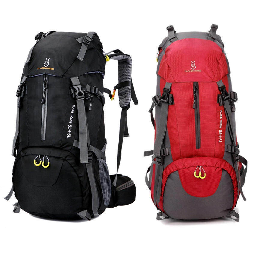 60L Outdoor Backpack Bag Nylon Unisex Men Women Trekking bag Waterproof  Travel Luggage Shoulders Bag For Camping Hiking Climbing 41bcd92712a5d