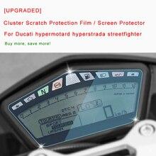 [Actualizado] para Ducati hypermotard hiperstrada streetfighter Cluster protección de arañazos película Protector de pantalla luz azul nuevo