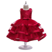 Kids Wedding Dress Girls Baby Cake Layered Princess Girl Kid Teenage Clothing Party for
