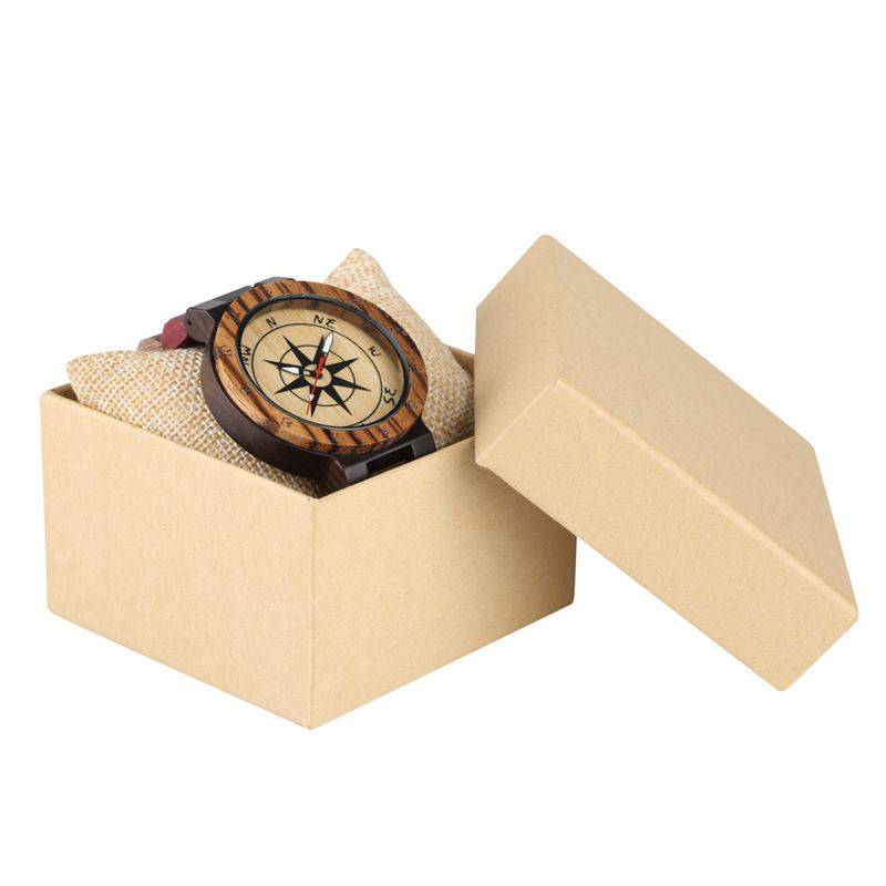 Creative Compass Dial Wood Watch Men Bamboo Watch Male Clocks Retro Full Wooden Wrist Quartz Watch Top Luxury Mens Watches 2019 2020 2022 2023 (12)