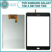 New LCD Touch Screen For Samsung Galaxy Tab A SM T350 T355 T350 LCD Display Touch Panel Digitizer Sensor Glass Lens