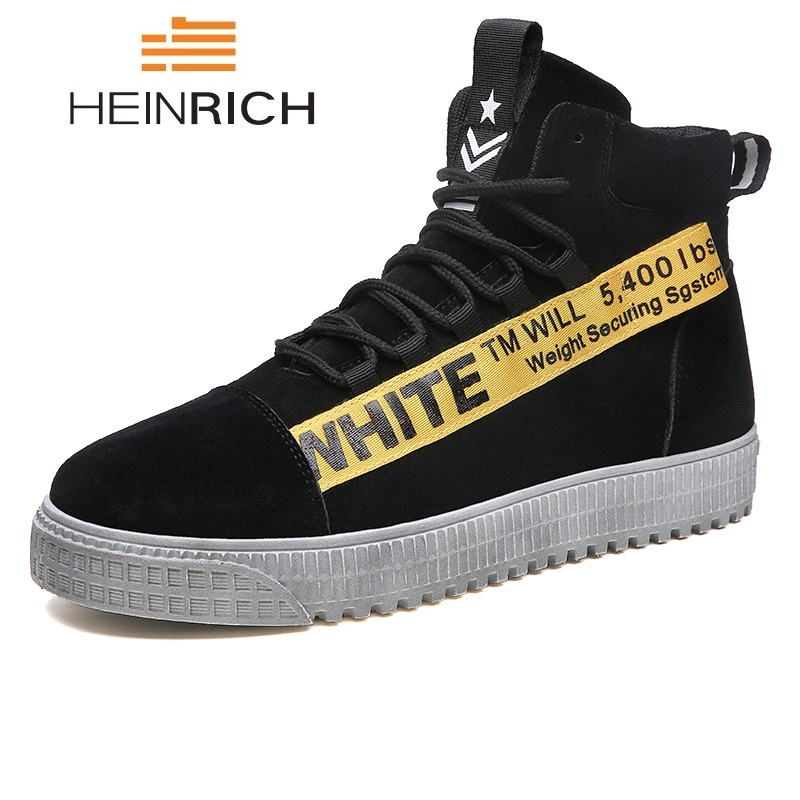0f3de61802df8e Schoenen Plat Black New Sneakers Masculino Hombre Heinrich Tenis Mode  Zapato And Hommes Casual black Leer Pour Chaussures red Yellow White Heren  Respirant ...