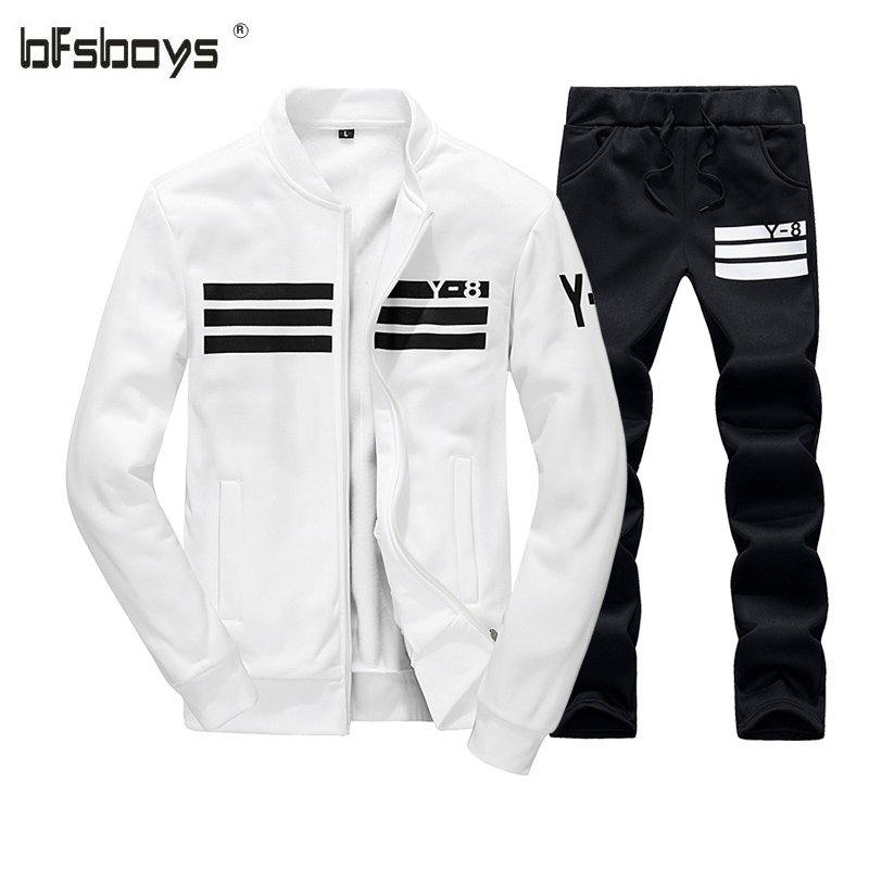 2017 new arrival high quality stand collar casual sportswear men's suit fleece tracksuit 6008-1-WY08 P35