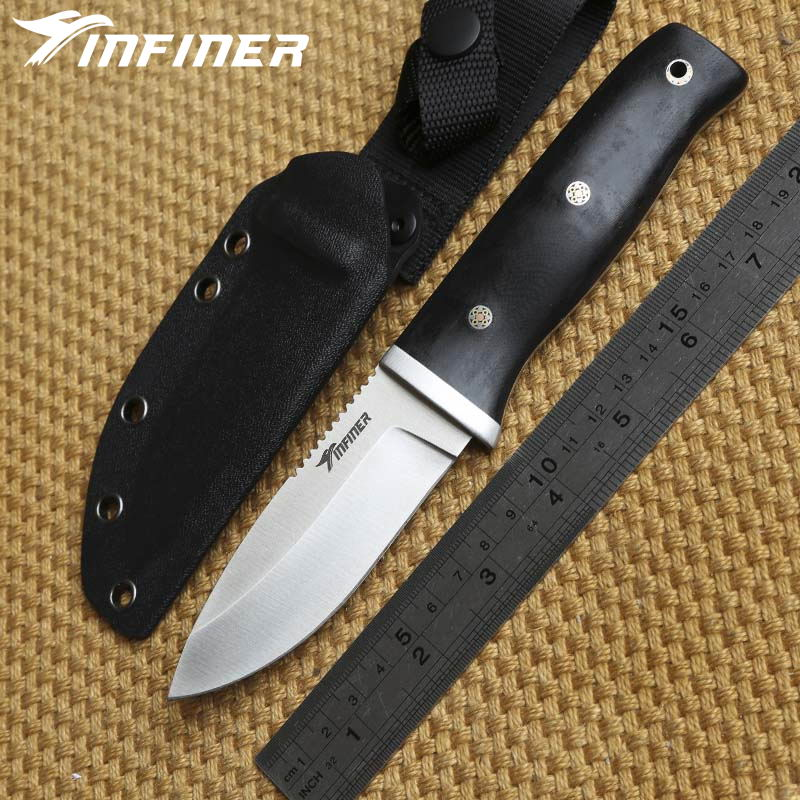 INFINER Accompany N1 A2 blade G10 handle KYDEX sheath fixed blade hunting knife camping outdoor gear survival EDC knives tools high quality army survival knife high hardness wilderness knives essential self defense camping knife hunting outdoor tools edc