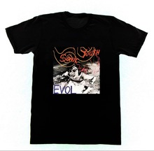 Cool T Shirt Designs  Short Sleeve Printing Machine Crew Neck Hipst Sonic Youth Evol Shirts For Men