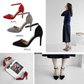 New Sexy Pointed Toe Women Pumps 7cm or 9cm High Heels Women Sandals Suede Leather Ankle Strap All-match Shoes