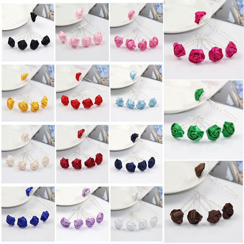 100 pcslot small silk rose artificial flower hair sticks wedding bridal flowers hairpins bridesmaids tiara sp 808 in hair jewelry from jewelry 100 pcslot small silk rose artificial flower hair sticks wedding bridal flowers hairpins bridesmaids tiara sp 80