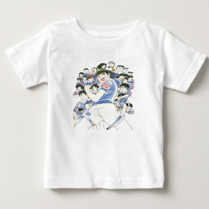 Anime Captain Tsubasa T Shirt Children Leisure Short Sleeve t shirt Boy Football motion T-shirts For Boys Girls 3T-8T NN 6