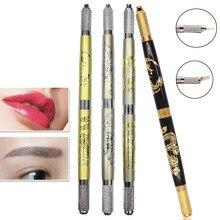 1PC Tattoo Grips New Microblading Pen Tattoo Machine Permanent Makeup Eyebrow Tattoo Manual Pen G61102