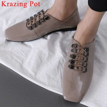 Retro British school square toe slip on ballet shoes Marry Janes classic young girls gorgeous design party driving shoes L0f1