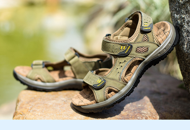 Hot Sale New Fashion Summer Leisure Beach Men Shoes High Quality Leather Sandals The Big Yards Men\`s Sandals Size 38-45 (30)