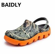 Summer Sandals Shoes Water-Slipper Garden-Clogs Slip-On Beach Male EVA Causal Soft BAIDLY